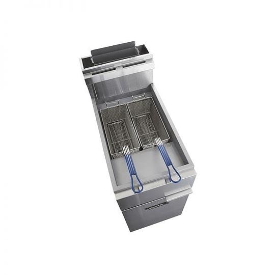 Freidora Gas Alta Producción 2x18 Lts VENTUS - Image 2
