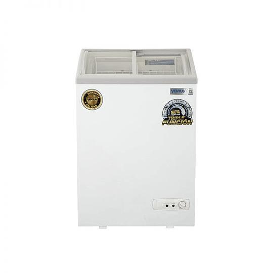 Congeladora Triple Función Vidrio Semi Curvo 100 litros VENTUS. - Image 1