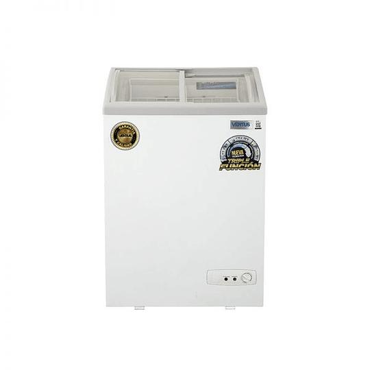 Congeladora Triple Función Vidrio Semi Curvo 100 litros VENTUS. - Image 3