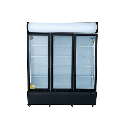 Visicooler 3 Puertas Abatibles 1200 litros Luz Led VENTUS. - Image 1