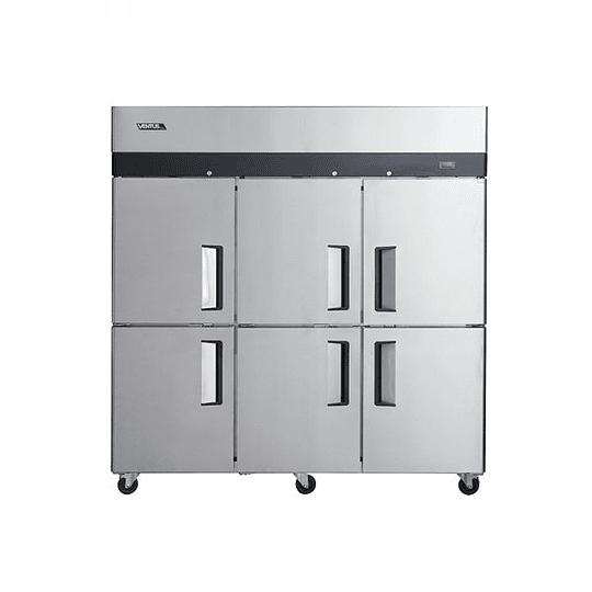 Freezer 6 puertas acero inoxidable VENTUS