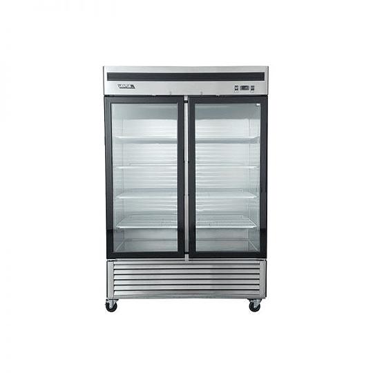 Freezer Acero Inoxidable, 2 Puertas de Vidrio VENTUS. - Image 1