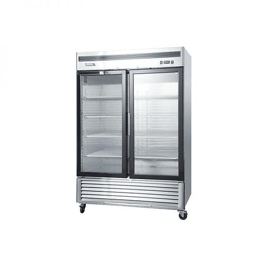 Refrigerador 2 Cuerpos Acero Inoxidable, 2 puertas de vidrio 1310Lts VENTUS. - Image 2