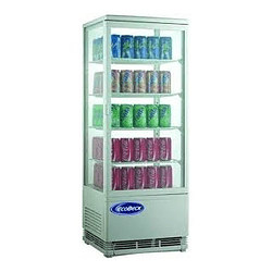 Vitrina pastelera vertical de 98 litros ECOBECK (BLANCA)