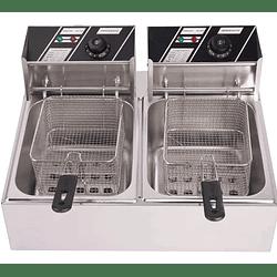 Freidora eléctrica de sobremesa 2 depósitos 8 lts c/u KFB