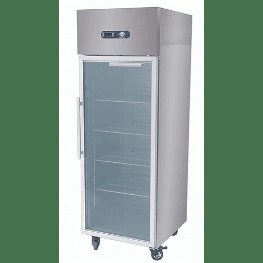 Congelador vertical 1 Puerta de vidrio 500LT Maigas - Image 1