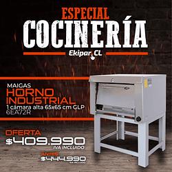 Horno Industrial 1 Camara Alta 65x65 GLP MAIGAS