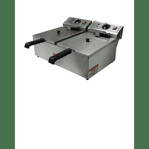 Freidora Eléctrica 12 lts 2 Depósitos MAIGAS