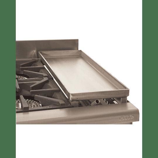 Cocina Industrial 4 Platos 300x300 con Plancha Churrasquera MAIGAS. - Image 2