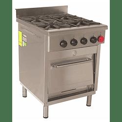 Cocina Industrial 4 Platos 300x300 mm. MAIGAS