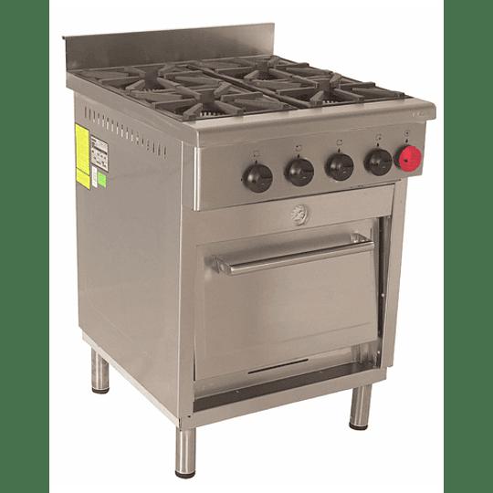 Cocina Industrial 4 Platos 300x300 mm. MAIGAS - Image 1