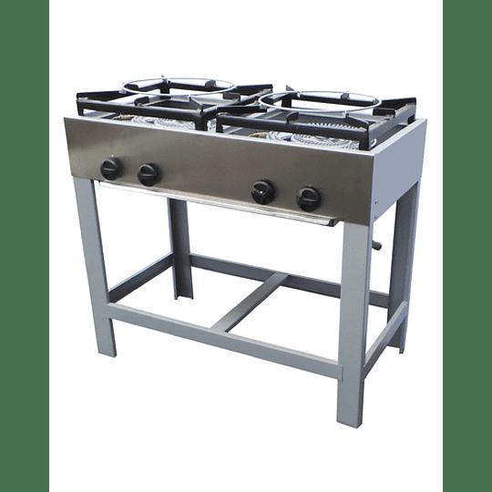Anafe Industrial 2 platos doble quemador 430x430 mm MAIGAS