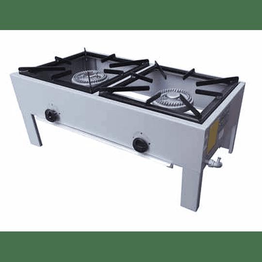 Anafe Industrial, Anafe a Gas 2 Hornallas 43x43 cm MAIGAS