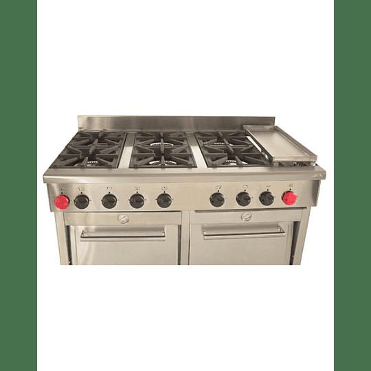 Cocina Industrial 6 platos con plancha churrasquera MAIGAS  - Image 2
