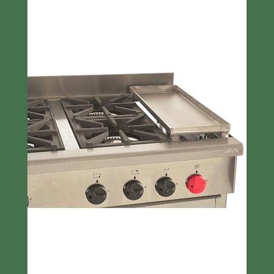 Cocina Industrial 6 platos con plancha churrasquera MAIGAS  - Image 3