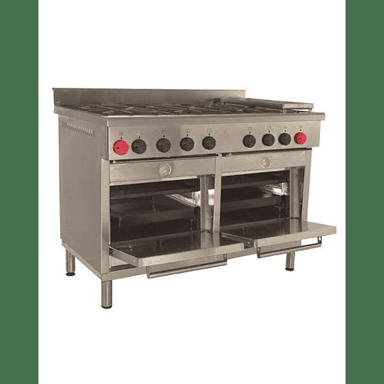 Cocina Industrial 6 platos con plancha churrasquera MAIGAS  - Image 6