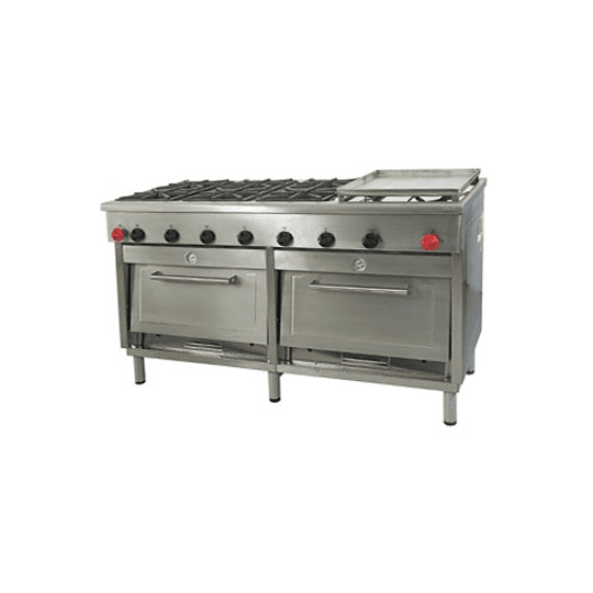 Cocina Industrial 6 platos con plancha churrasquera grande MAIGAS  - Image 1