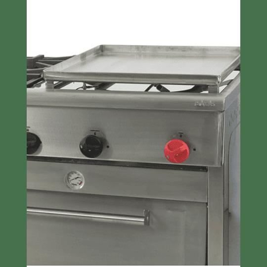 Cocina Industrial 6 platos con plancha churrasquera grande MAIGAS  - Image 4