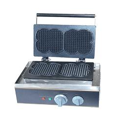 Máquina para waffles doble diseño corazón ECOBECK