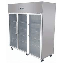 Refrigerador Industrial 1500 Lt. 3 Puertas de Vidrio