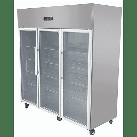 Refrigerador Industrial 1500 Lt. 3 Puertas de Vidrio - Image 1