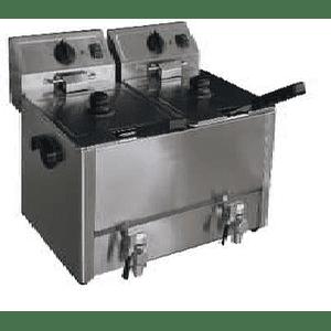 Freidora eléctrica de sobremesa 2 depósitos de 8 lts c/u KFB
