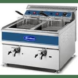 Freidora eléctrica de sobremesa 2 depósitos de 18 lts c/u KFB