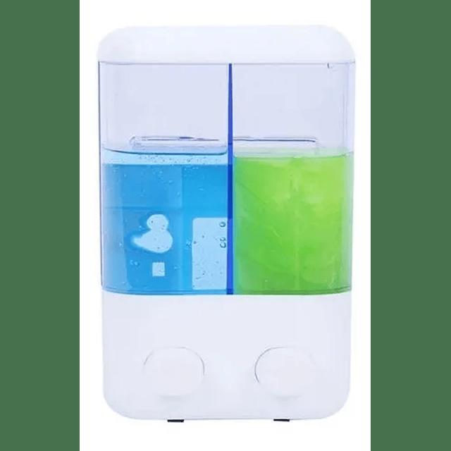 Dispensador Jabon Doble Liquido Alcohol Gel