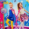 Micrófono Doble Star Party Mp3 Led Pedestal Niñas Niños