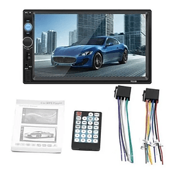 Radio Auto Doble Din Bluetooth Touch Mp5 Mirror Comando Vola
