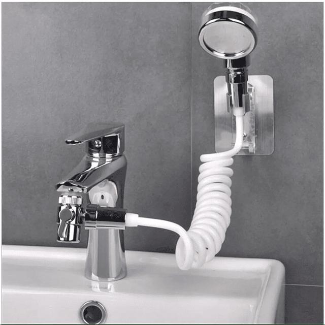 Cabezal Ducha Externo Lavamanos Grifo Monomando Filtro Baños