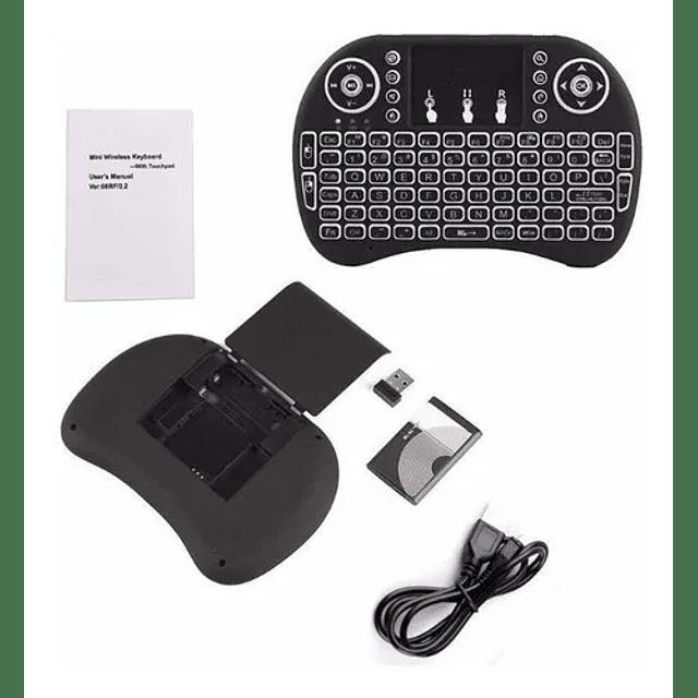 Mini Teclado Smart Tv Touchpad Luminoso