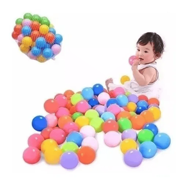 Pack 100 Pelotas Plasticas Piscina Colores Juegos
