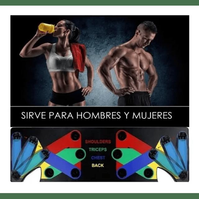 Tabla Para Flexiones Codificada Con Colores Ejercicios Push