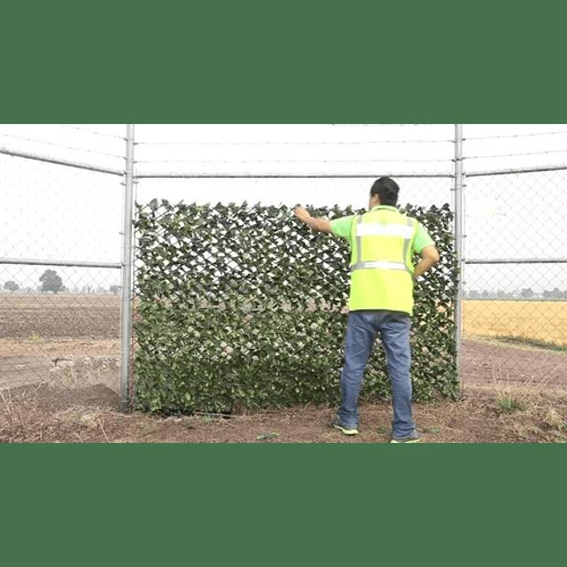 Malla Valla Cerca Planta Enredadera Artificial Hojas 120 Rej