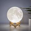 Lampara Luna Led 3d Lunar 15 Cms Luz Fria
