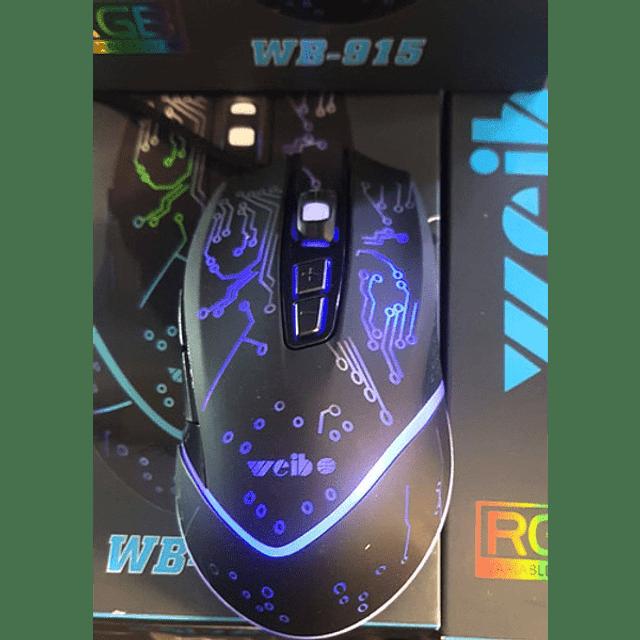 Mouse Gamer 7 Botones Optico Usb 2400 Dpi Retroiluminado