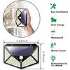 Luz Led Solar Pared Patio Pasillo Sen Movimiento Recargable