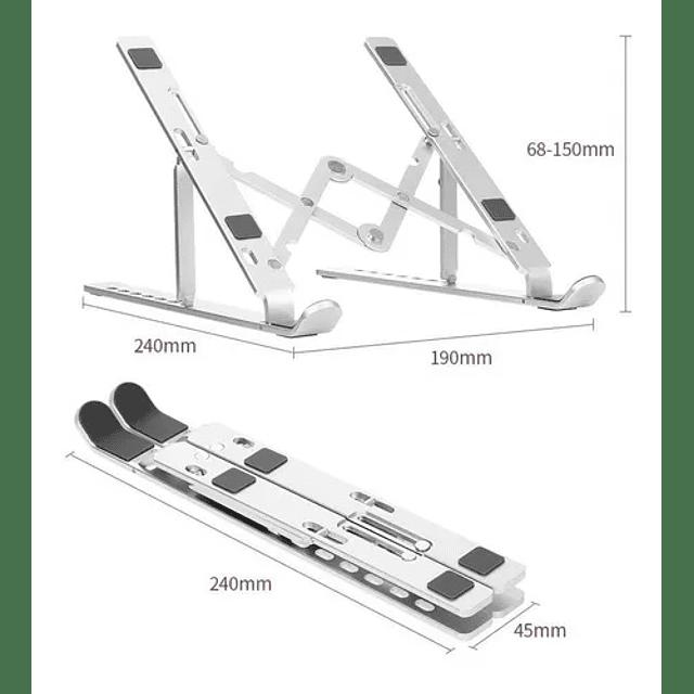 Aluminio Soporte Portátil Para Macbook Pro Air Pc iPad Pro