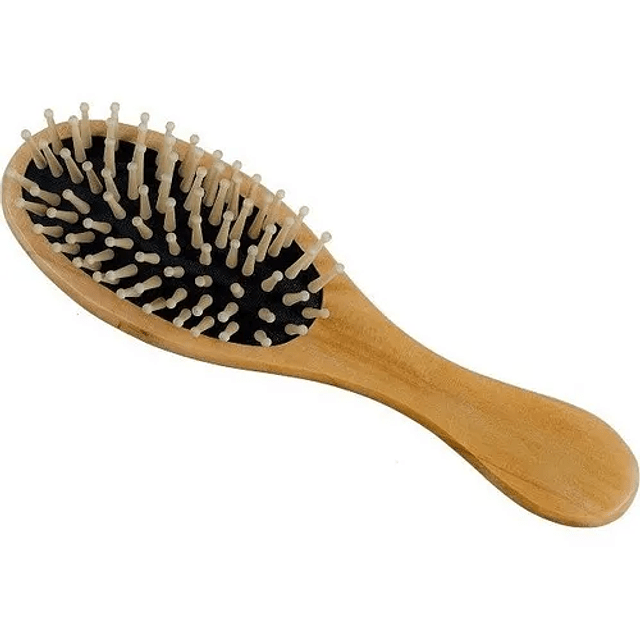 Cepillo Ovalado Para El Cabello Cabello De Bambú Ecologico