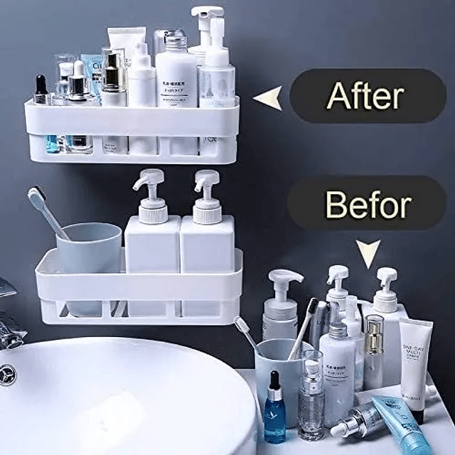 Organizador Repisa Cesta Ducha Cocina Baño Adhesivo