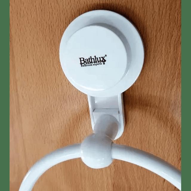 Toallero De Pared Semi Circular Baño Casa Cocina Ventosa