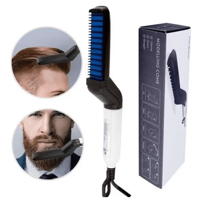 Cepillo Alisador Hombre Barba Alisadora Cabello