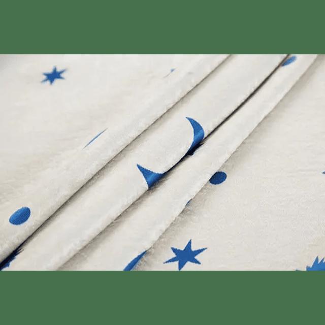 Pack 2 Cortinas Infantil Diseños Estrellas Lunas Dormitorios