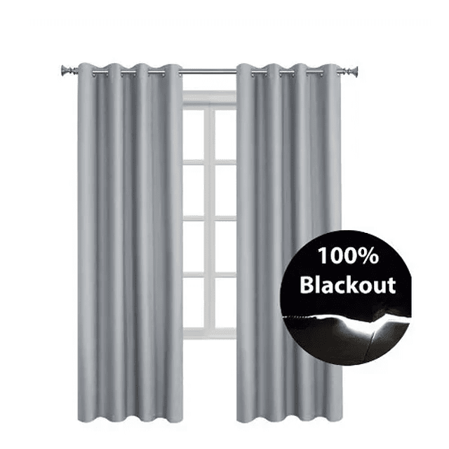 Cortinas Blackout Aislante Termico 140x230 Cm