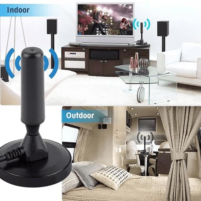 Antena Smart Tv Hd Base Magnética Isbdt