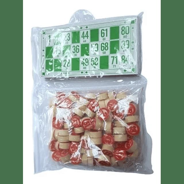 Juego Loteria Lota Bingo Clasico Numeros De Madera