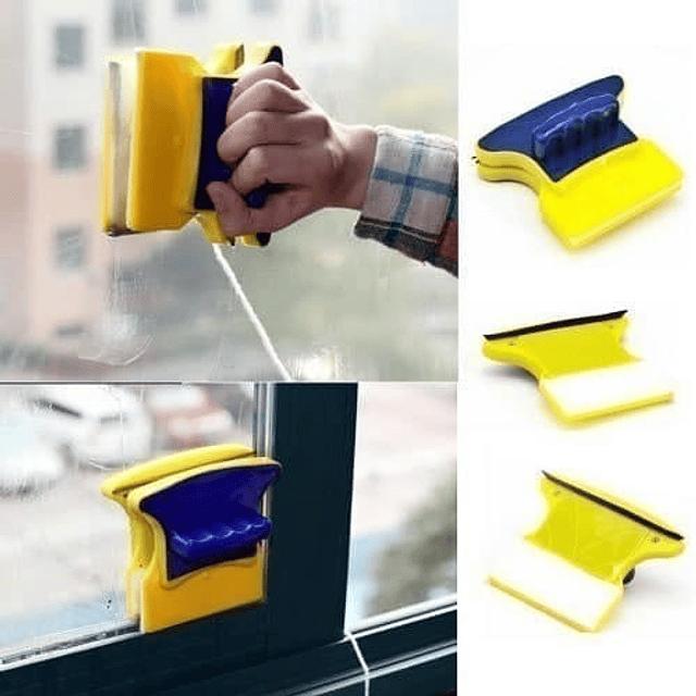 Limpia Limpiador Vidrio Magnético Con Iman Ventana