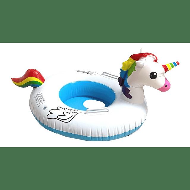 Flotador Inflable Piscina Unicornio Niños Colores Verano