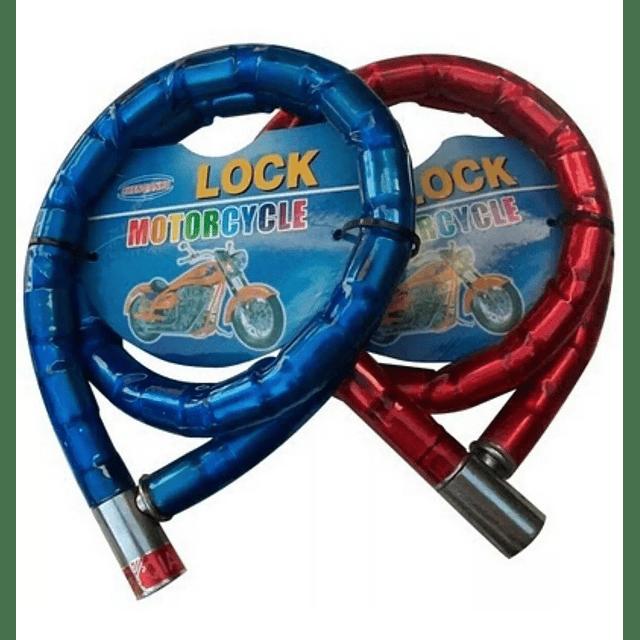 Cadena Candado Bicicleta Moto Coche Goma 12mm X 80cm Llave